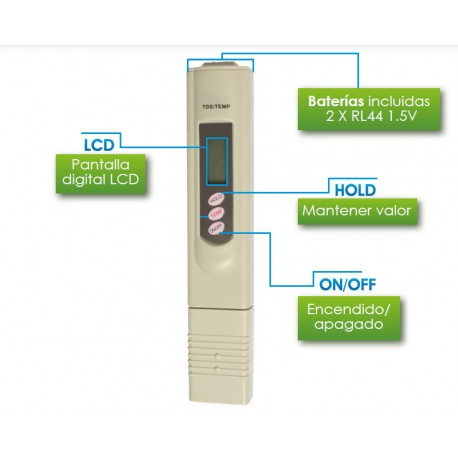 Lápiz Digital Analizador de TDS de 0 a 999 ppm