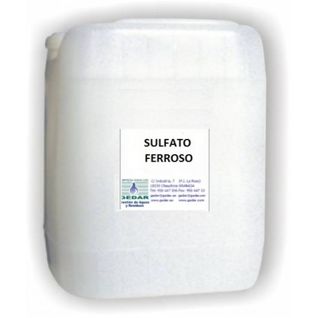 Sulfato Ferroso HEPTAHIDRATADO (E-10 Kg)