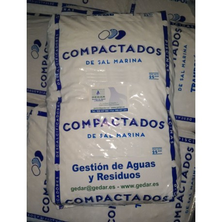 Sal en pastillas alta pureza descalcificadores e 25 kg - Precios descalcificadores domesticos ...