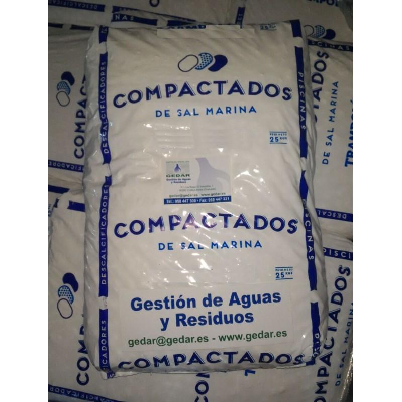 Sal en pastillas alta pureza descalcificadores e 25 kg - Sal para descalcificadores ...