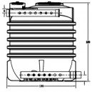 Filtro Percolador V: 1.600 l para 8 Heq