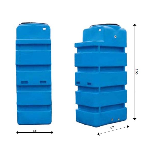 Dep sito a reo en pead tipo cubo 1000 gedar equipos y - Depositos de agua rectangulares ...