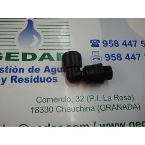 Enlace rápido en codo a tubo de 6mm a rosca 1/8