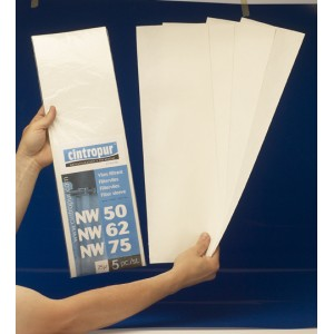 Paquete 5 Telas Filtrantes NW50/62/75 005 micras