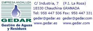 GEDAR: Equipos y Productos para el AGUA Logo