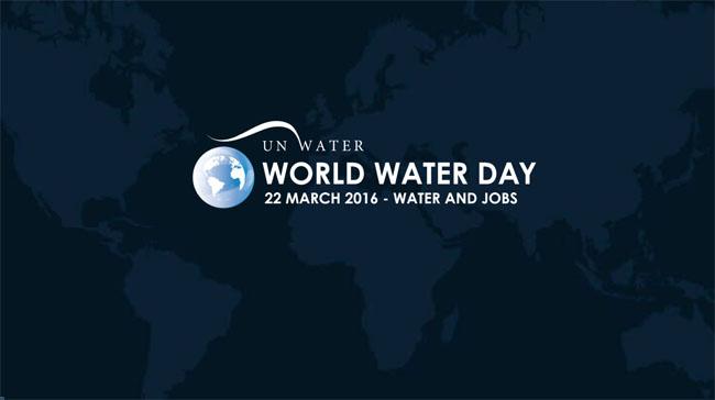 Logo del Día Mundial del Agua 2016 - Agua y Trabajo